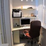 внутренняя отделка балкона под кабинет